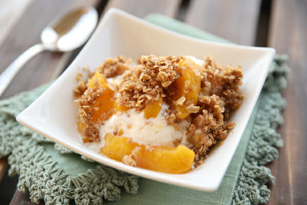 Perfect Peach Crisp from Our Best Bites