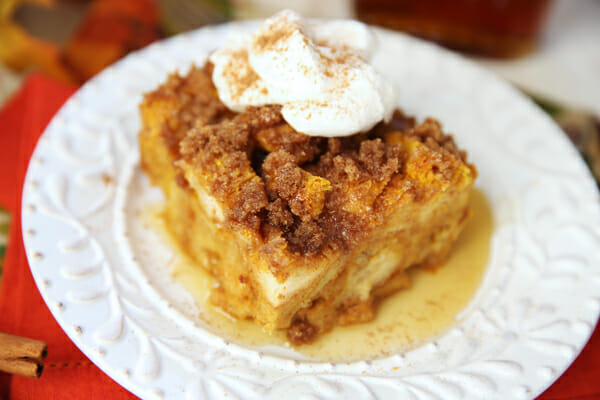 Baked Pumpkin French Toast from Our Best Bites