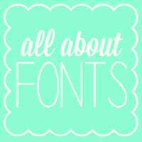 Weekend Roundup and Some of Kate's Favorite Fonts!