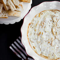 French Onion Dip {Hot & Cheesy}