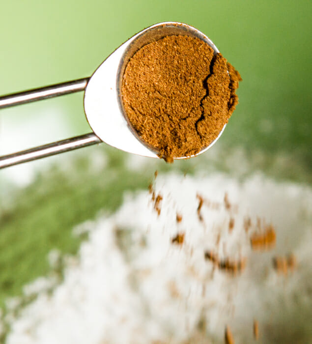 spices in flour