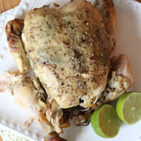 Garlic Lime Chipotle Roasted Chicken