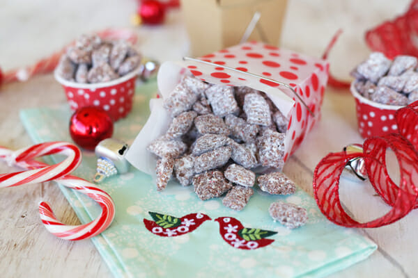 Candycane Muddy Buddies from Our Best Bites