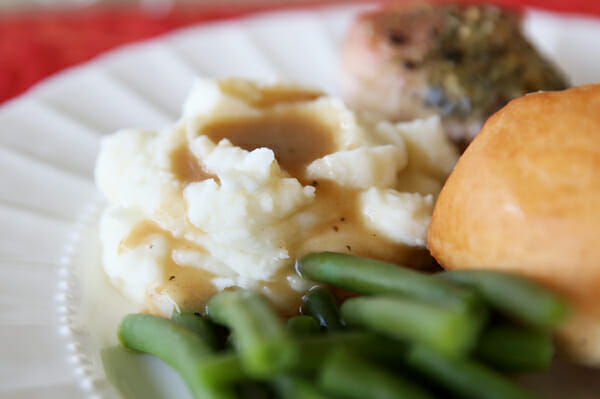 Creamy Mashed Potatoes and Gravy