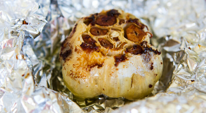 roasted garlic for sweet potatoes