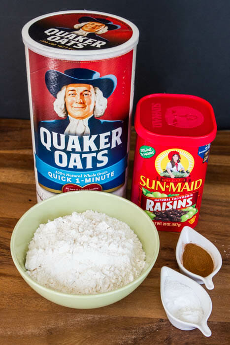 dry oatmeal raisin ingredients