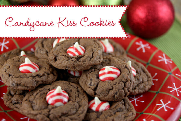 Candy Cane Kiss Cookies from Our Best Bites