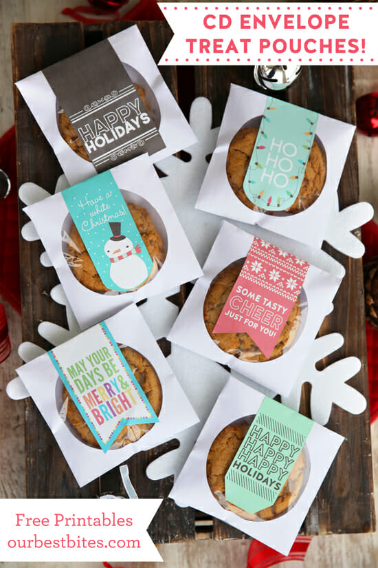Great idea from Our Best Bites! CD Envelopes for Cookie Pouches