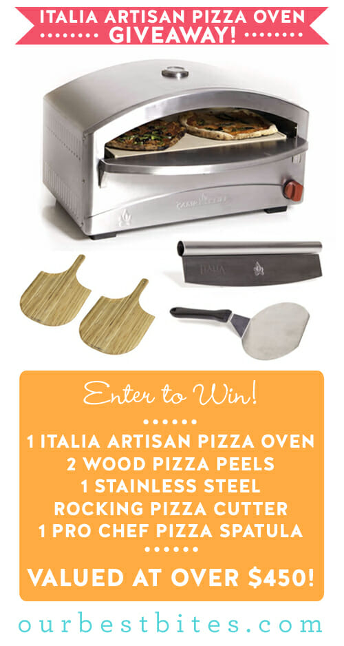 Italia Artisan Pizza Oven Giveaway from Our Best Bites
