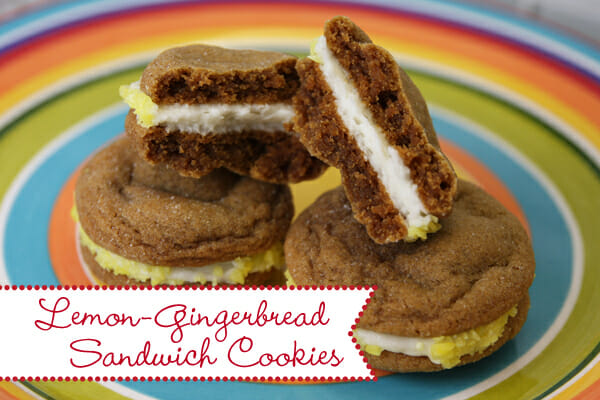 Lemon Gingerbread Sandwich Cookies from Our Best Bites
