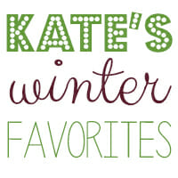 Kate's Winter Picks {Gift Ideas and Giveaway!}