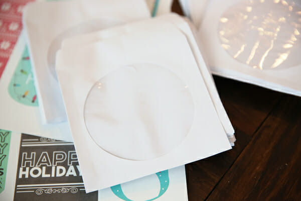 White CD Envelopes for Cookies