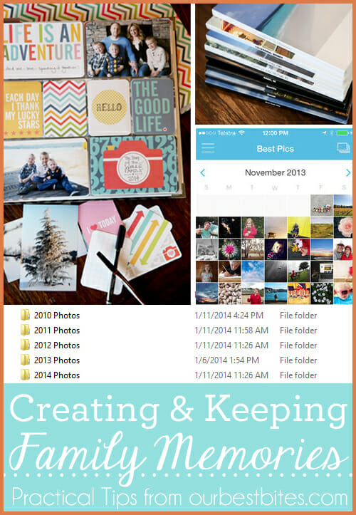 Feeling Overwhelmed by digital photos- Great tips from Our Best Bites on keeping up with your family history.