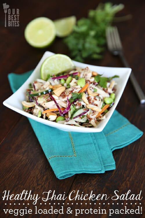 Healthy and Filling Thai Chicken Salad from Our Best Bites