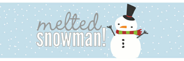 Melted Snowman Water Bottle Labels snowman party printables - our best ...