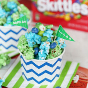 Game Day Colored Candy Popcorn {Beast Mode!}