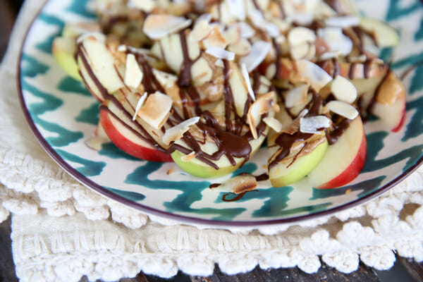 Chocolate Peanut Butter Apples from Our Best Bites