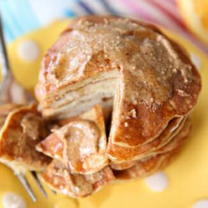 Close up of 2 ingredient pancakes