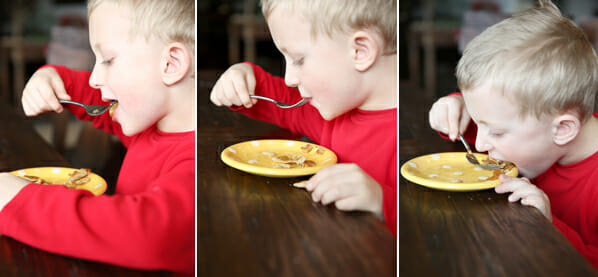 Eating Pancakes