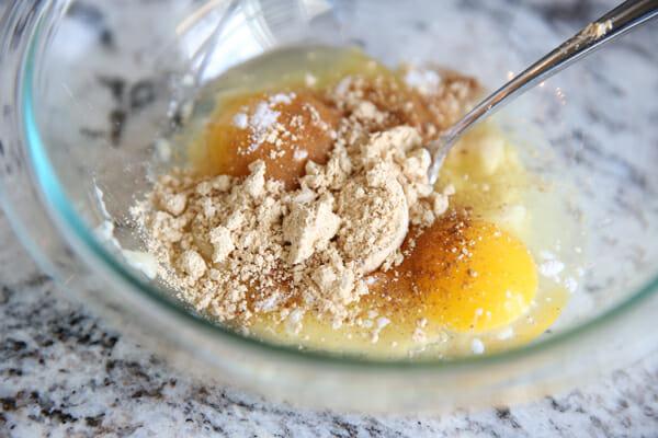 Eggs, banana, PB2
