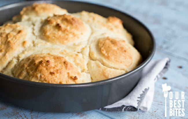 Quick and easy BEST biscuits EVER! They're HUGE!