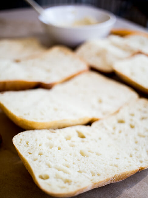 sliced ciabatta rolls