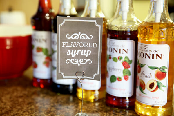 Flavored Syrup Printable