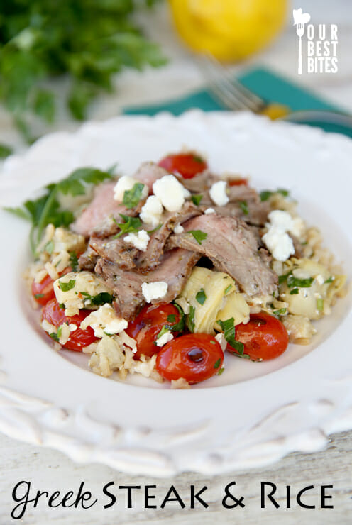 Greek Steak with Rice from Our Best Bites