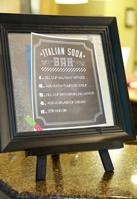 Italian Soda Bar Printables