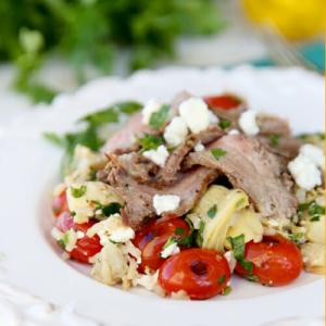 Greek Inspired Steak & Rice