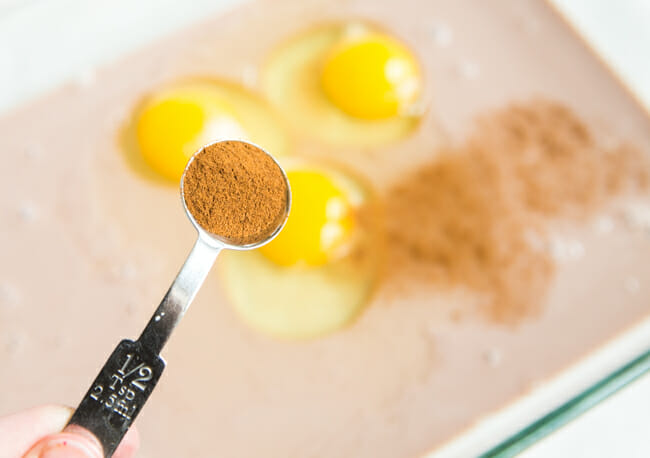 cinnamon and eggs