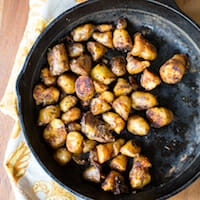Smokey Skillet Fingerling Potatoes