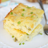 Chile Cheese Souffle Squares