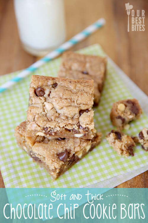 Our Best Bites Soft and Thick Chocolate Chip Cookie Bars