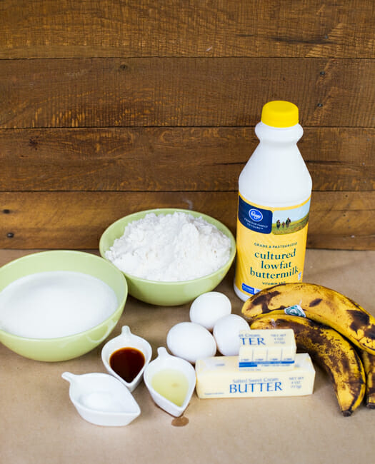 banana sheet cake ingredients