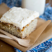 Banana Cake with Cream Cheese or Brown Butter Frosting {You Pick}