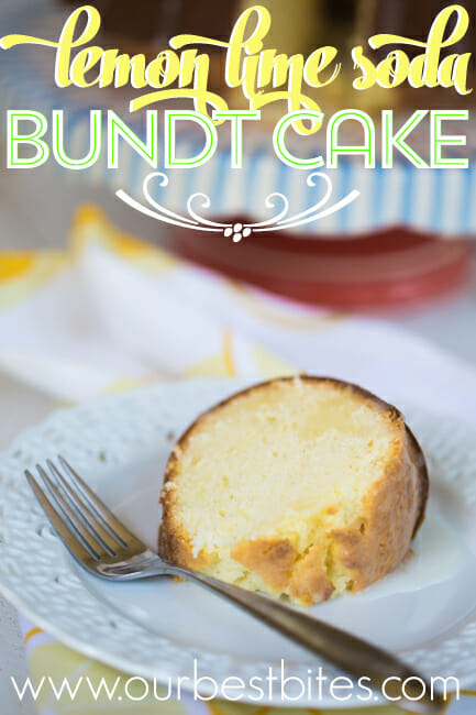 Bundt Cake made with Sprite from Our Best Bites. Melt in your mouth amazingness.