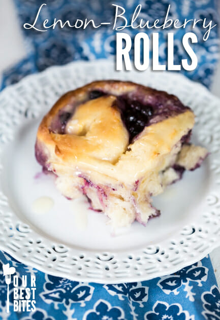 Lemon Blueberry Rolls from Our Best Bites
