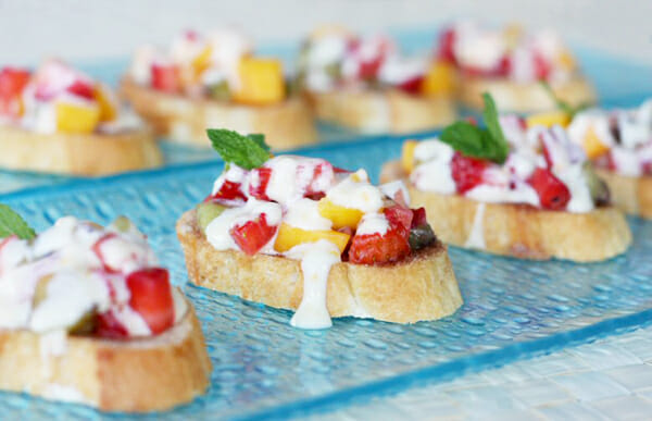 Our Best Bites Fruit Brushetta
