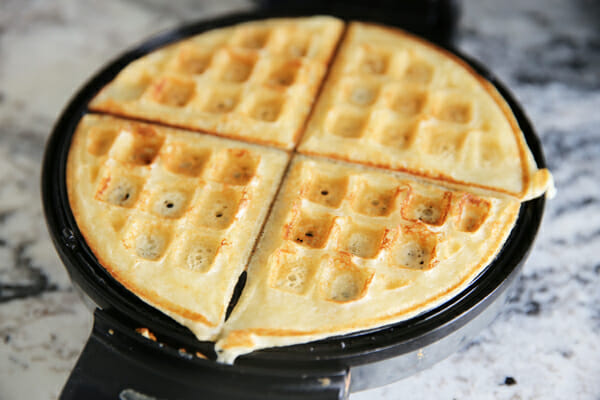Cooked Top of Yeasted Waffels