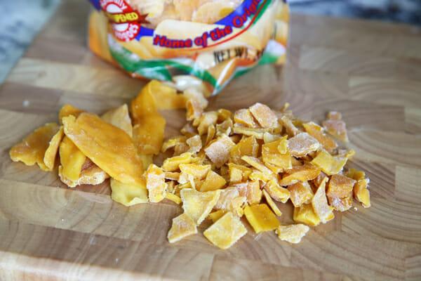 Diced chopped mango