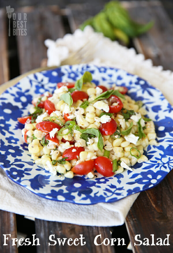 Fresh Sweet Corn Salad from Our Best Bites