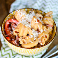 Creamy Cajun Pasta with Peppers and Smoked Sausage