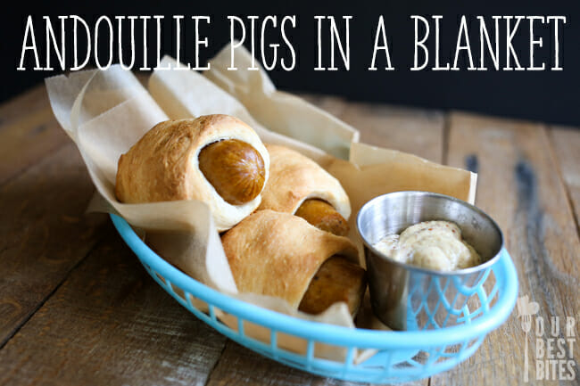 Andouille Pigs in a Blanket