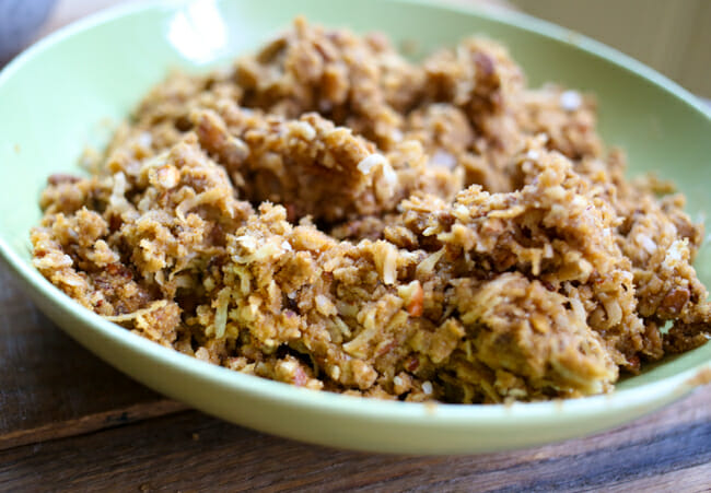 crunchy coconut topping