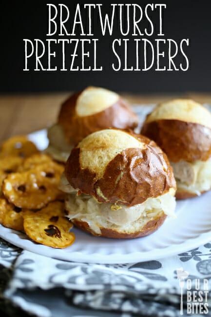 Bratwurst Pretzel Sliders