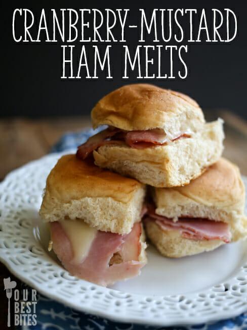 Cranberry-Mustard Ham Melts