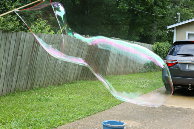 Giant bubbles on Our Best Bites!