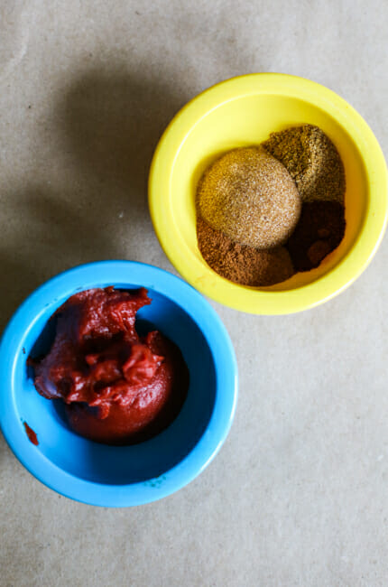 tomato paste and brown sugar