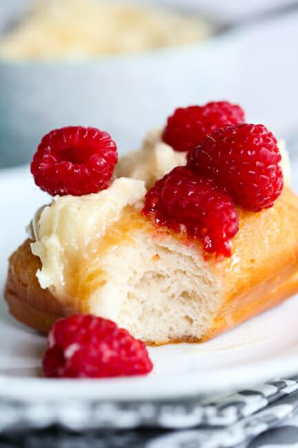 Utah Scones With Honey Butter Amp Raspberries Our Best Bites